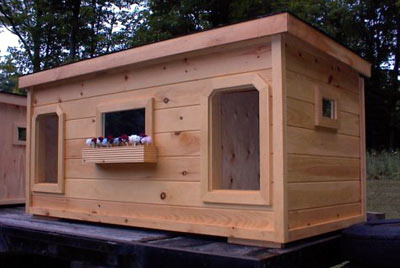 Dog/2 Door Deluxe Dog House